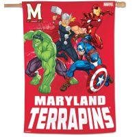 "Maryland Terrapins / Marvel (c) 2021 MARVEL Vertical Flag 28"" x 40"""