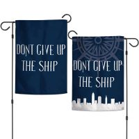"""City / Ohio DONT GIVE UP THE SHIP Garden Flags 2 sided 12.5"""" x 18"""""""