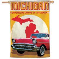 """State / Michigan Vertical Flag 28"""" x 40"""""""