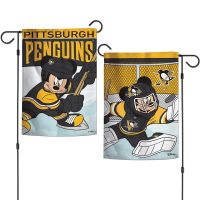 """Pittsburgh Penguins / Disney Garden Flags 2 sided 12.5"""" x 18"""""""