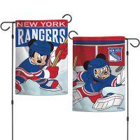 "New York Rangers / Disney Garden Flags 2 sided 12.5"" x 18"""