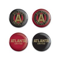 "Atlanta United Button 4 Pack 1 1/4"" Rnd"