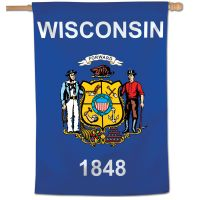 "State / Wisconsin Vertical Flag 28"" x 40"""
