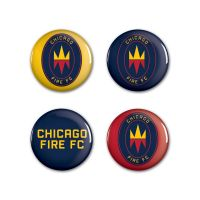 "Chicago Fire Button 4 Pack 1 1/4"" Rnd"