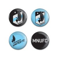"Minnesota United FC logos Button 4 Pack 1 1/4"" Rnd"