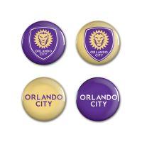 "Orlando City SC logos Button 4 Pack 1 1/4"" Rnd"