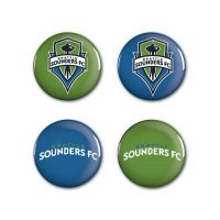 "Seattle Sounders logos Button 4 Pack 1 1/4"" Rnd"