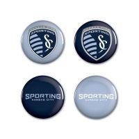 "Sporting Kansas City logos Button 4 Pack 1 1/4"" Rnd"