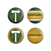 "Portland Timbers Button 4 Pack 1 1/4"" Rnd"