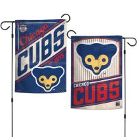 """Chicago Cubs / Cooperstown Garden Flags 2 sided 12.5"""" x 18"""""""