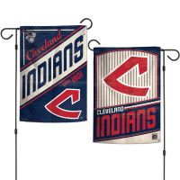 """Cleveland Indians / Cooperstown Garden Flags 2 sided 12.5"""" x 18"""""""