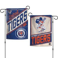 """Detroit Tigers / Cooperstown Garden Flags 2 sided 12.5"""" x 18"""""""