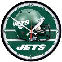 "New York Jets Helmet Round Wall Clock 12.75"""