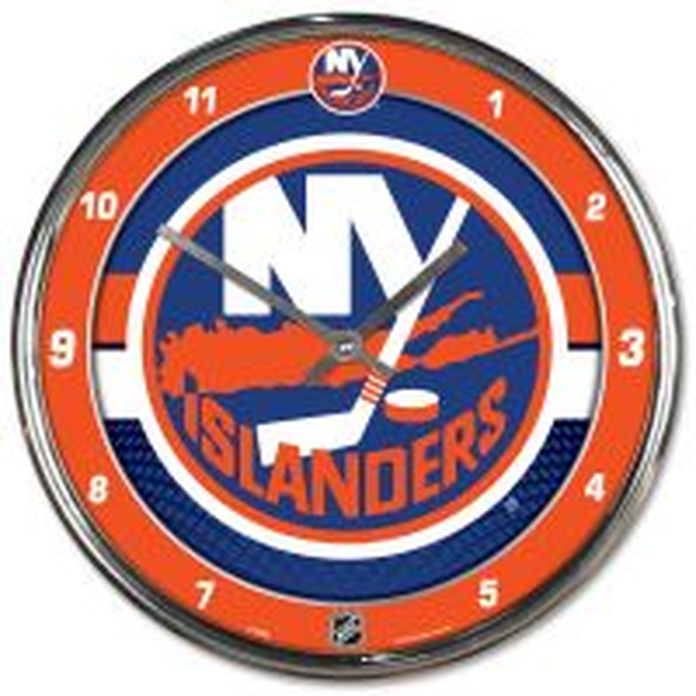 New York Islanders Chrome Clock