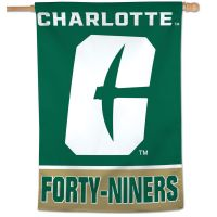 "Charlotte Forty-Niners Vertical Flag 28"" x 40"""