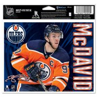 "Edmonton Oilers Multi-Use Decal -Clear Bckrgd 5"" x 6"" Connor McDavid"