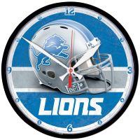 "Detroit Lions HElmet Round Wall Clock 12.75"""