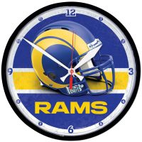 "Los Angeles Rams Round Wall Clock 12.75"""