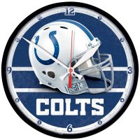 "Indianapolis Colts Round Wall Clock 12.75"""