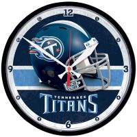 """Tennessee Titans Round Wall Clock 12.75"""""""