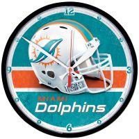 "Miami Dolphins Round Wall Clock 12.75"""