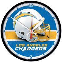 """Los Angeles Chargers Round Wall Clock 12.75"""""""