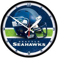 "Seattle Seahawks Round Wall Clock 12.75"""
