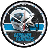 "Carolina Panthers Round Wall Clock 12.75"""