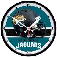 "Jacksonville Jaguars Round Wall Clock 12.75"""