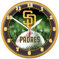 "San Diego Padres Round Wall Clock 12.75"""