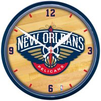 """New Orleans Pelicans Round Wall Clock 12.75"""""""