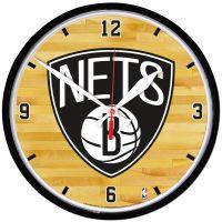 "Brooklyn Nets Round Wall Clock 12.75"""
