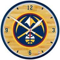 "Denver Nuggets Round Wall Clock 12.75"""