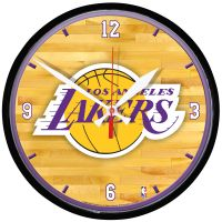 Los Angeles Lakers Round Wall Clock 12.75""