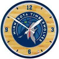 Minnesota Timberwolves Round Wall Clock 12.75""