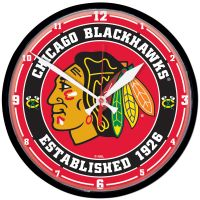 "Chicago Blackhawks Round Wall Clock 12.75"""