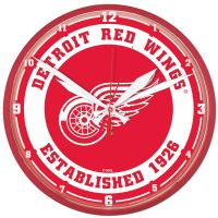 """Detroit Red Wings Round Wall Clock 12.75"""""""