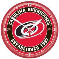 "Carolina Hurricanes Round Wall Clock 12.75"""