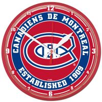 """Montreal Canadiens Round Wall Clock 12.75"""""""