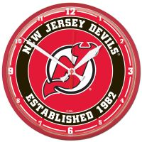 """New Jersey Devils Round Wall Clock 12.75"""""""