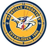 "Nashville Predators Round Wall Clock 12.75"""