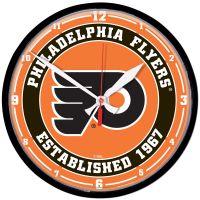 "Philadelphia Flyers Round Wall Clock 12.75"""