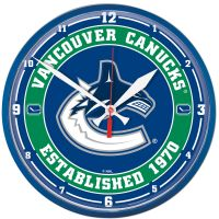 """Vancouver Canucks Round Wall Clock 12.75"""""""
