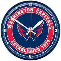 """Washington Capitals Round Wall Clock 12.75"""""""