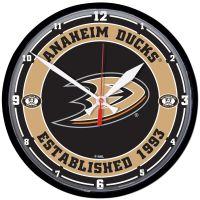 """Anaheim Ducks Round Wall Clock 12.75"""""""
