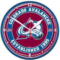 "Colorado Avalanche Round Wall Clock 12.75"""