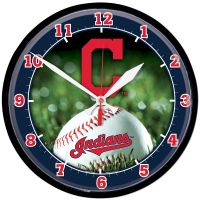 """Cleveland Indians Round Wall Clock 12.75"""""""