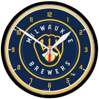Milwaukee Brewers Round Wall Clock 12.75""