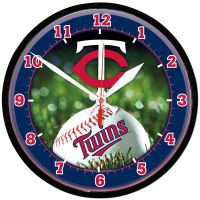 Minnesota Twins Round Wall Clock 12.75""