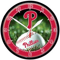 Philadelphia Phillies Round Wall Clock 12.75""